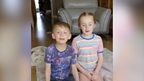 Nurses' children in 'stay at home' video appeal