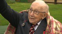 Captain Tom celebrates 100th birthday