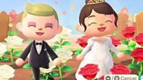 A virtual wedding on Animal Crossing