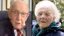 Captain Tom's video message for fundraiser aged 101