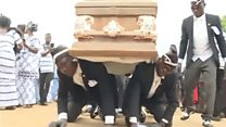 The dancing pallbearers who became a morbid meme