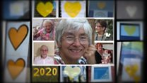 Grieving together with a yellow heart