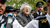 Corbyn's brother arrested at anti-lockdown protest