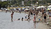 Beach crowds as countries ease lockdowns