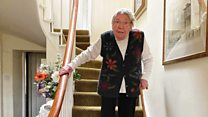 Woman, 90, 'climbing mountain' on stairs for NHS