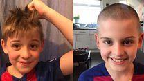 Boy shaves his head for those hungry in lockdown