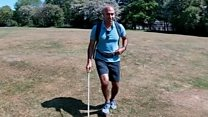 Blind TV presenter runs alone for first time in 25 years