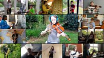 Young musicians form virtual orchestra