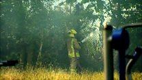 Firefighters battle 500 acre of gorse blaze