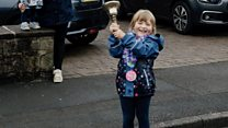 Girl, 5, rings bell to celebrate end of cancer treatment