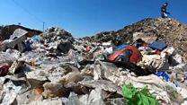 UK recycling dumped by Turkish roadside