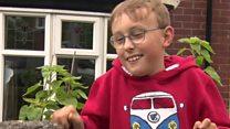 Boy with cerebral palsy sets off on second marathon