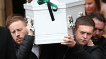 Funeral of Noah Donohoe takes place in Belfast