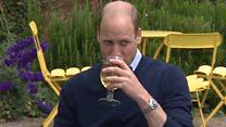 Prince enjoys cider and chips in pub beer garden