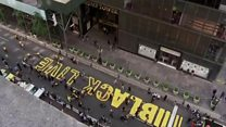 Black Lives Matter painted outside Trump Tower