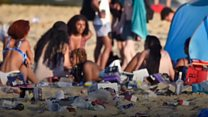 Fears over single-use plastics beach waste