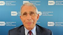 Dr Fauci: Trump's mask tweets 'not helpful'