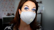 Keeping your make-up and hair looking good in a mask