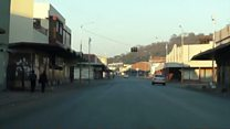 Harare's empty streets on the day of protest