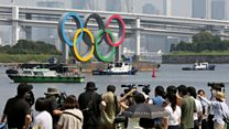 Olympic rings temporarily shelved in Tokyo