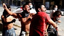 Beirut explosion: Anger boils over in Beirut protests thumbnail