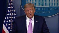 coronavirus stock Trump calls Harris 'meanest' US senator