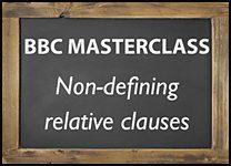Masterclass - non-defining rel...