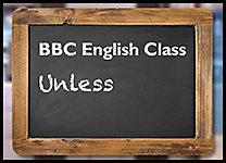 English Class Unless inline promo