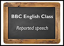 English Class Reported speech inline promo