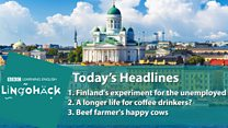Lingohack: 12 July: Helsinki: Image with headlines