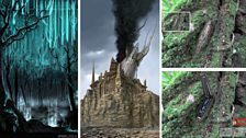 Forest, Temple Ruins and Treeborg