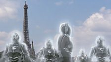 Cybermen Materialising Near the Eiffel Tower in Paris