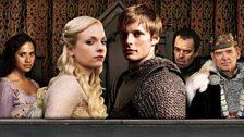 Gwen, Lady Vivian, Arthur, Trickler and King Alined