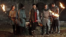 Merlin, Arthur and the Knights of the Round Table.