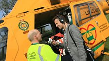 Richard meets the team at the East Midlands Ambulance Service