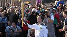 May 26, 2012: Matt Smith Carries the Olympic Torch
