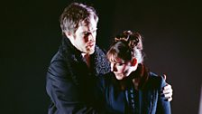 Audun Iversen as Eugene Onegin and Amanda Echalaz as Tatyana (c) Neil Libbert / ENO 2011