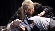 Dmitri Hvorostovsky as Valentin and Angela Gheorghiu as Marguerite (c) Catherine Ashmore / The Royal Opera 2011