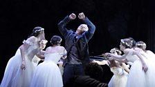 Dmitri Hvorostovsky as Valentin with Dancers (c) Catherine Ashmore / The Royal Opera 2011