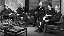 Dame Margery Perham (1961) pictured on the BBC programme The Brains Trust