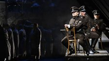 The SS Officers - From left: David Danhold, Tobias Hachler and Wilfried Staber (c) Bregenzer Festpiele / Karl Foster