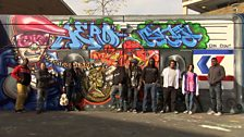 Graffiti tribute to the Queen - meet the team