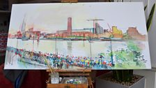 Our Diamond Jubilee River Pageant Painting Part 2
