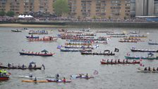 Boats on the Diamond Jubilee River pageant