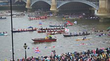More boats on the Diamond Jubilee River Pageant