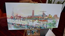 Our Diamond Jubilee River Pageant Painting Part 3