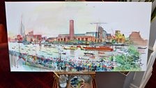 Our Diamond Jubilee River Pageant Painting Part 4