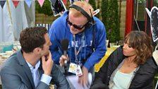 Chris Evans with Matt Baker and Alex Jones