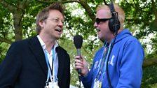 Simon Mayo and Chris Evans