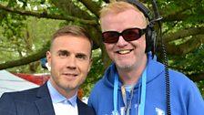 Gary Barlow and Chris Evans